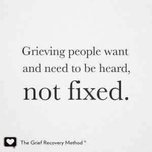 Grief can't be fixed