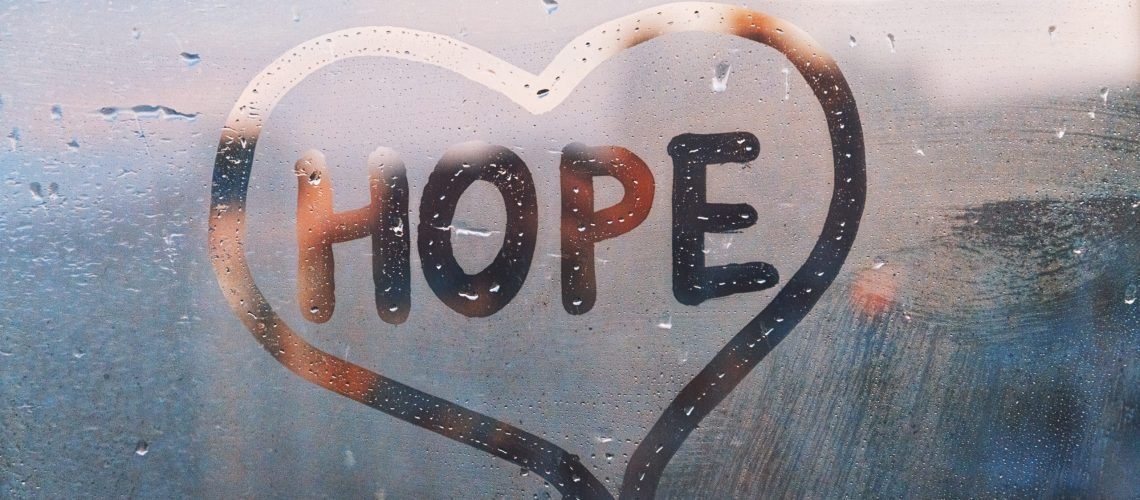 Hope with a heart around it